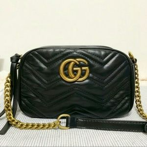 € New Gucci Black g chevron 8.5xx 5.5 l cross body